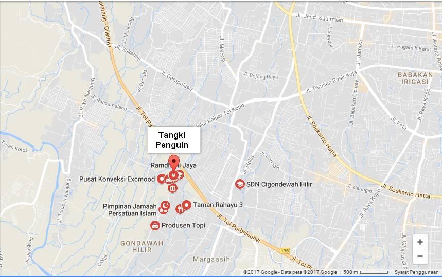 peta toko tangki air penguin